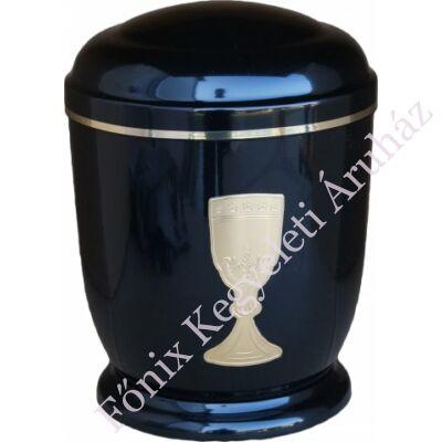 Fekete, arany kelyhes fém urna
