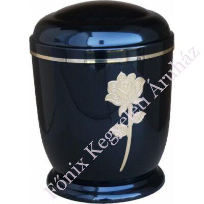Fekete, arany rózsás fém urna
