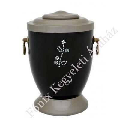 Rózsás fekete-szürke fém urna