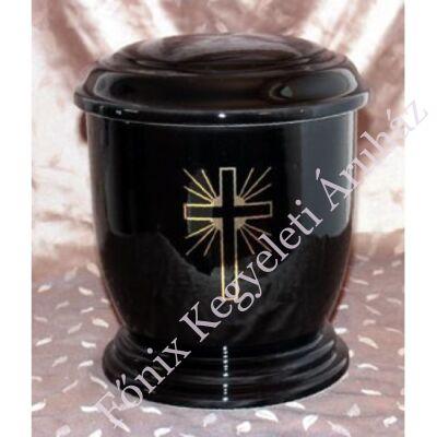 Fekete urna arany színű kereszttel