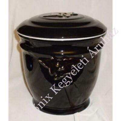 Fekete borostyán mintás urna