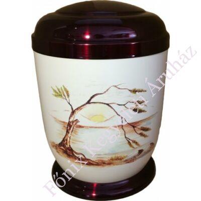 Színes, cédrus fém urna