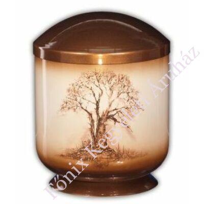 Fém urna terebélyes fával