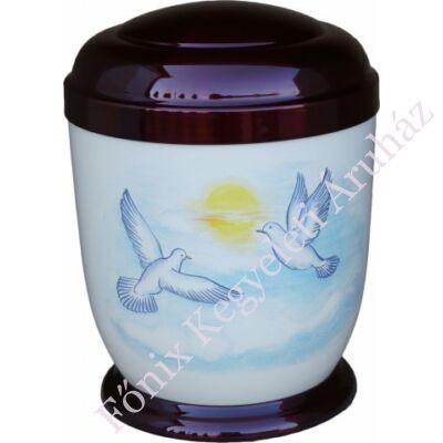 Színes, galambos fém urna