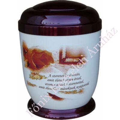 Színes, idézetes fém urna