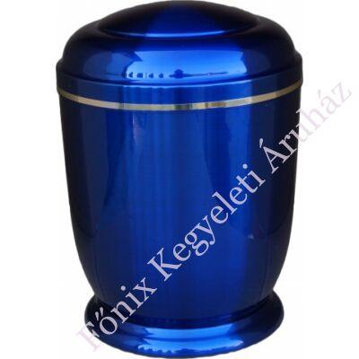 Kék, fém urna