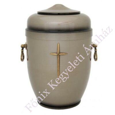 Szürke fém urna, kereszttel