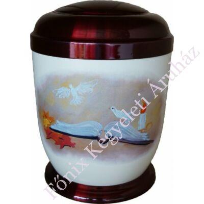 Színes, könyves fém urna