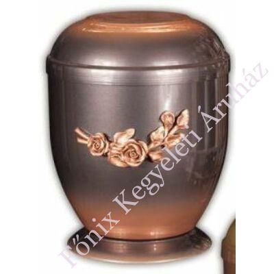 Fém urna rózsaszállal
