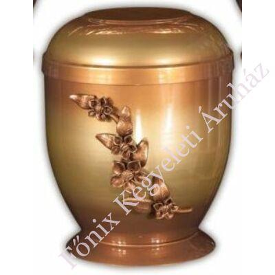 Fém urna virágfüzérrel