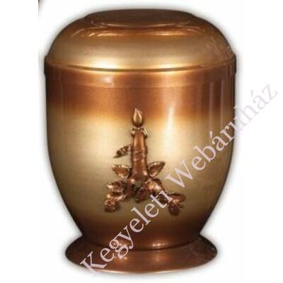 Gyertyás fém urna