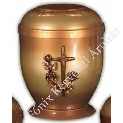 Rózsás keresztes fém urna