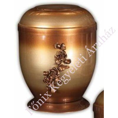 Rózsás fém urna