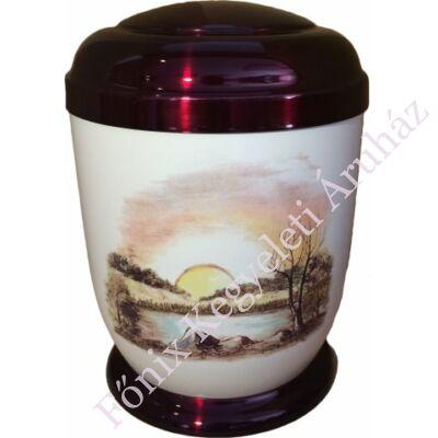 Színes, naplementés fém urna