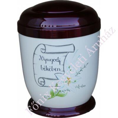 Színes,liliomos fém urna