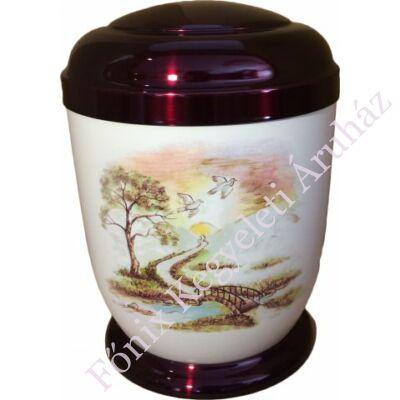 Színes, patakos fém urna