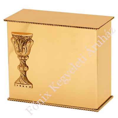 """Fényes felületű, hagyományos sárgaréz """"iker"""" urna kehely mintával"""