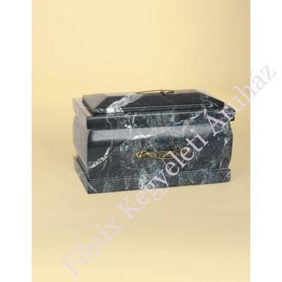 Márvány (onyx) urna fekete tónusú