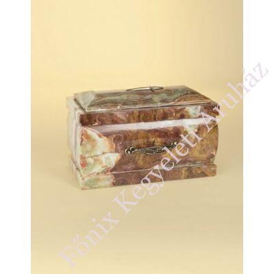 Márvány (onyx) urna barnás alapszínű