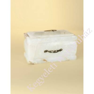Márvány (onyx) urna fehéres sárgás tónusú