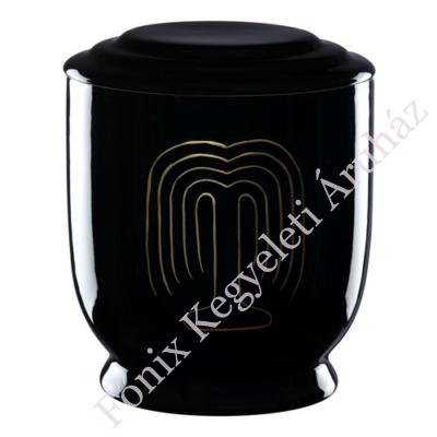 Fekete kerek urna - szomorúfűz
