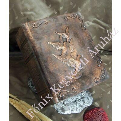 Különleges, galambos mintájú könyv urna - bronz színű