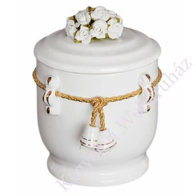 Gyerek urna zsinórral, virággal
