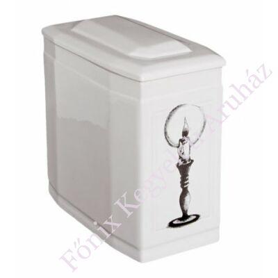Fehér iker urna gyertyával