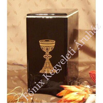 Iker fekete urna arany kehellyel