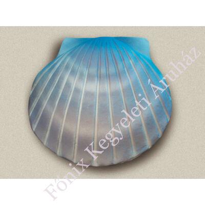 Kagyló formájú, lebomló urna hajós temetéshez - kék