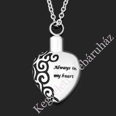 "Szív alakú medál - ""Always in my heart"""