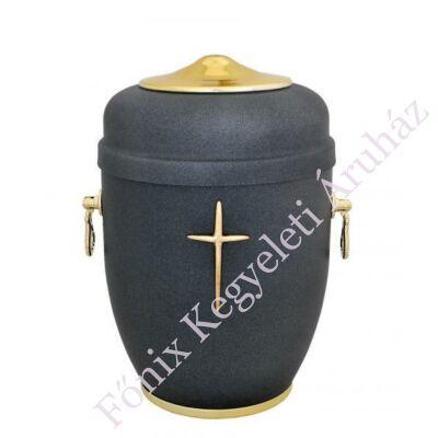 Keresztes sötétkék fém urna