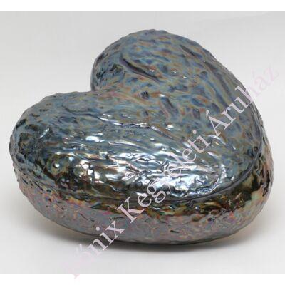 Szív alakú kék kerámia urna