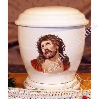Fehér urna Jézussal