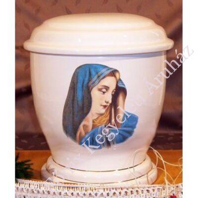 Fehér urna Máriával