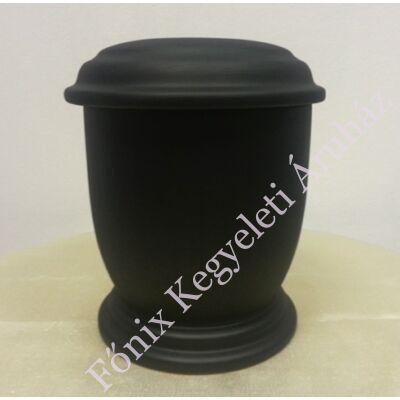 Egyszerű fekete, kerek urna