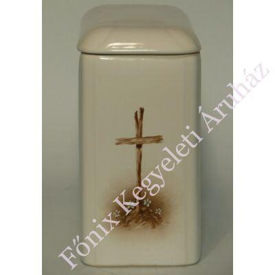 Kézzel festett iker urna, kereszt
