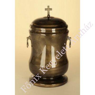 Sötétbarna kő kompozit urna - keresztes
