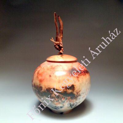 Egyedi kerámia urna fa díszítéssel