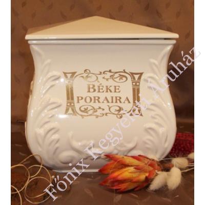 Fehér négyszög urna felirattal
