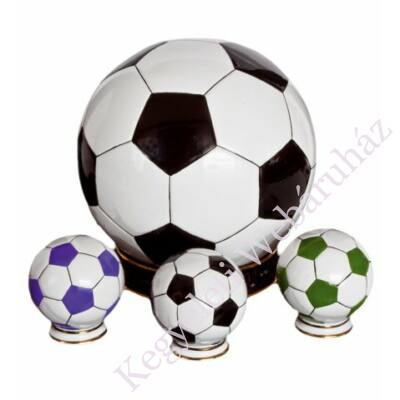 Foci labda alakú mini urna - relikviatartó (fekete-fehér)
