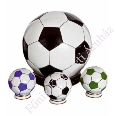 Foci labda alakú mini urna - relikviatartó (zöld-fehér)
