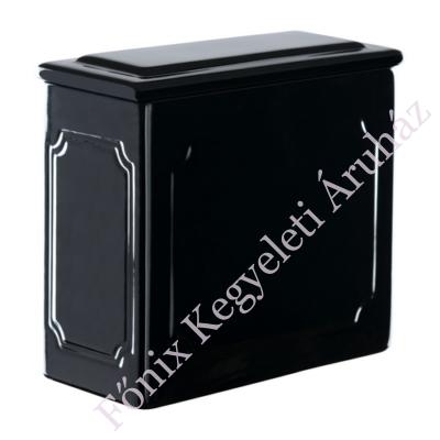 Legkisebb templomi urna - mázas fekete