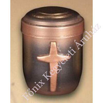 Bronz színű mini urna kereszttel - relikviatartó, vagy gyermek urna