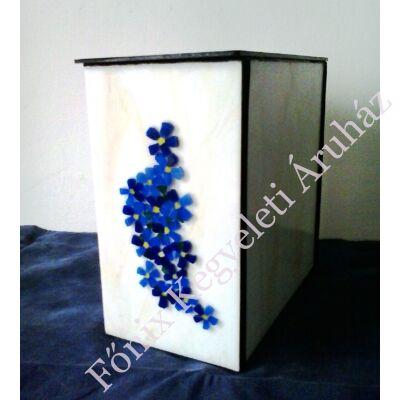 Nefelejcses üvegmozaik urna