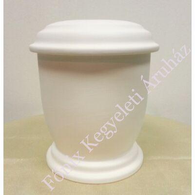 Egyszerű fehér, kerek urna