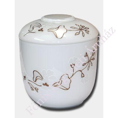 Opál üveg, girland díszítésű, fehér urna