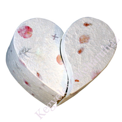 Szív alakú PÁROS urna KÉT FELNŐTT hamvai számára