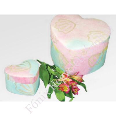 Szív alakú urna pasztell színekben