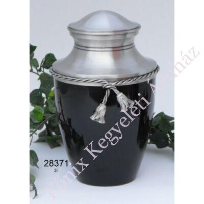 Szalagos fekete fém urna